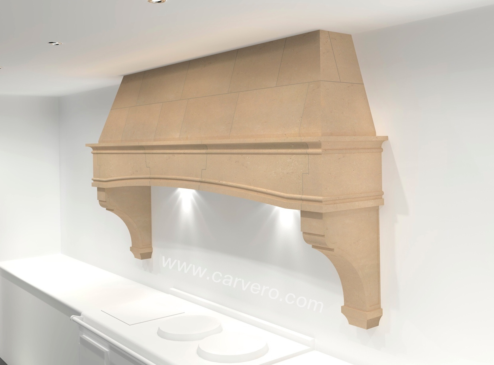 French Style Kitchen Stone Canopy - Hood & Latest Product Addition: A Country Kitchen Stone Canopy - AGA ...
