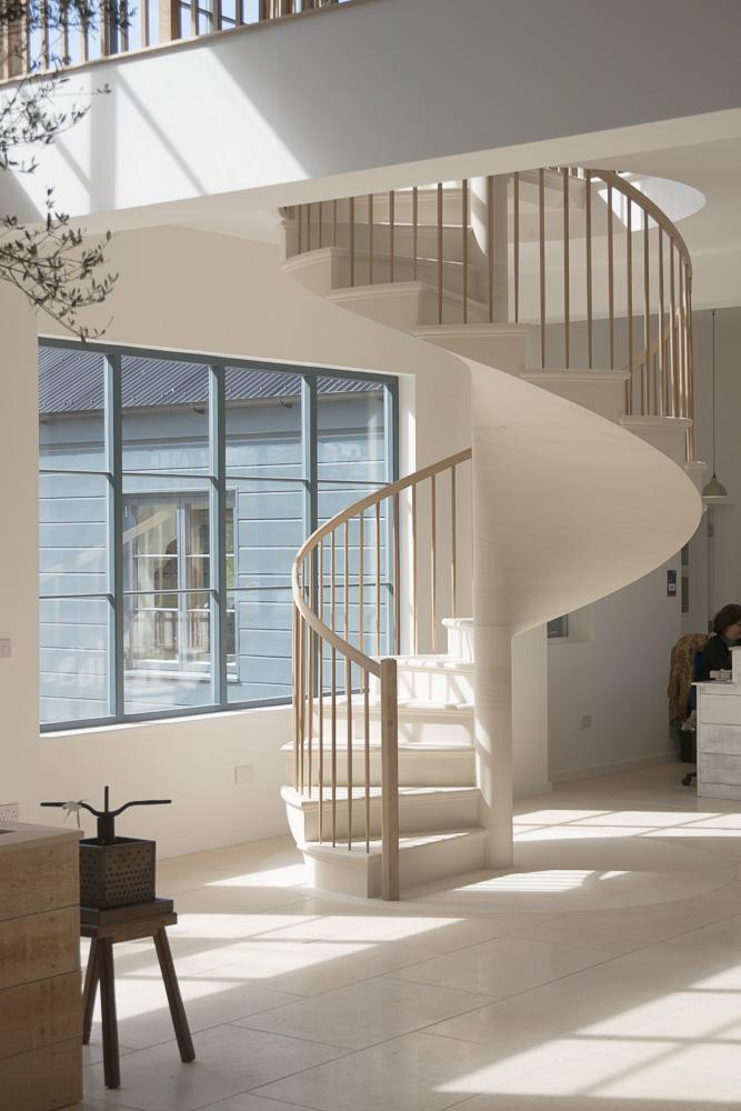 another great view at the spiral stone staircase
