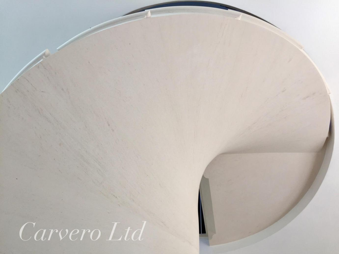 beautifully made spiral stone staircase from Carvero Stonemasonry
