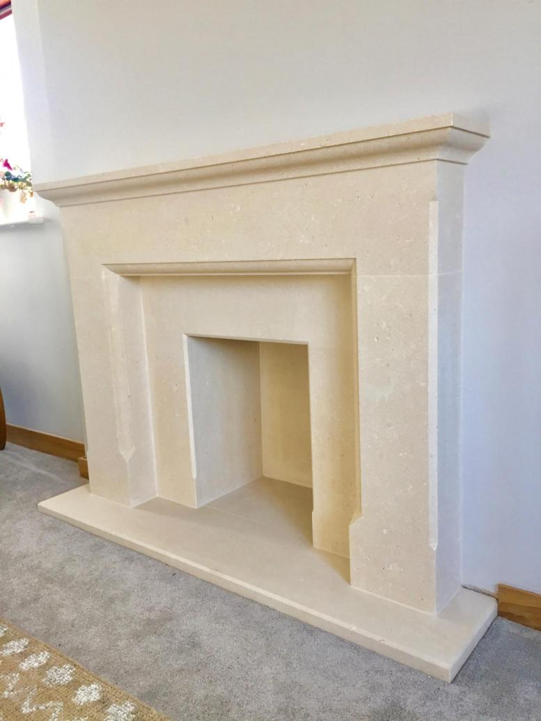 stone fireplace surround Leicester