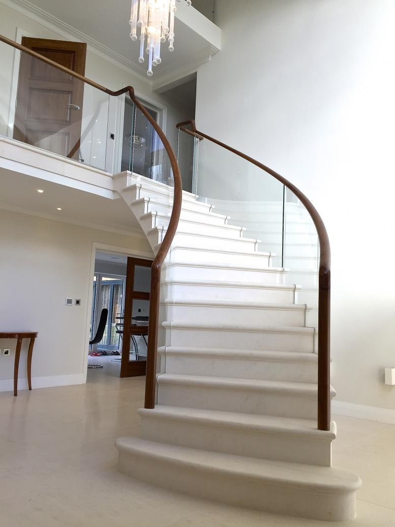post tensioned stone stair