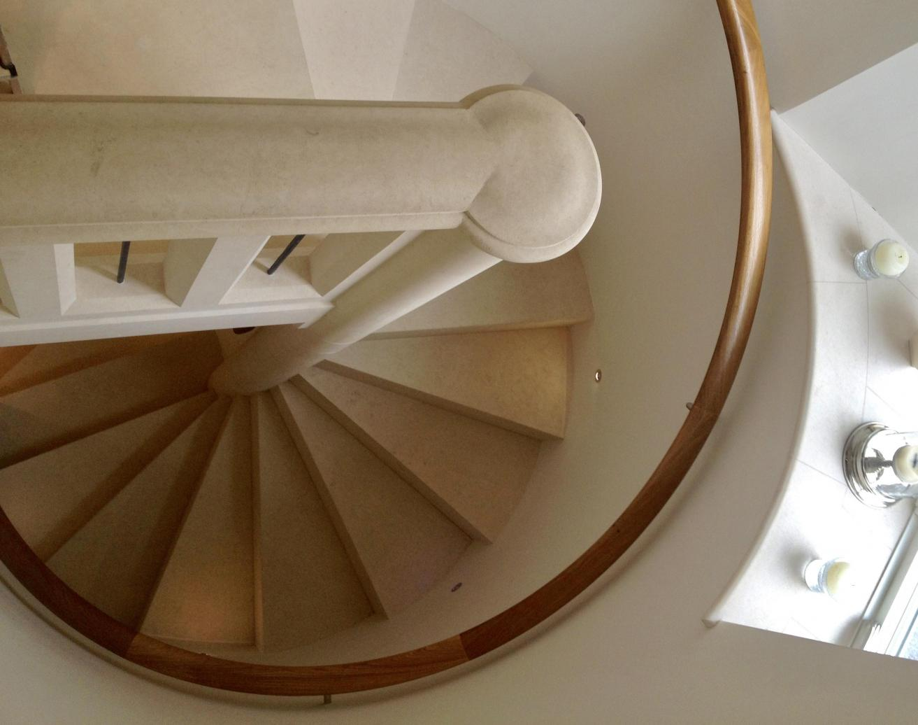 stone spiral staircase fitted in London