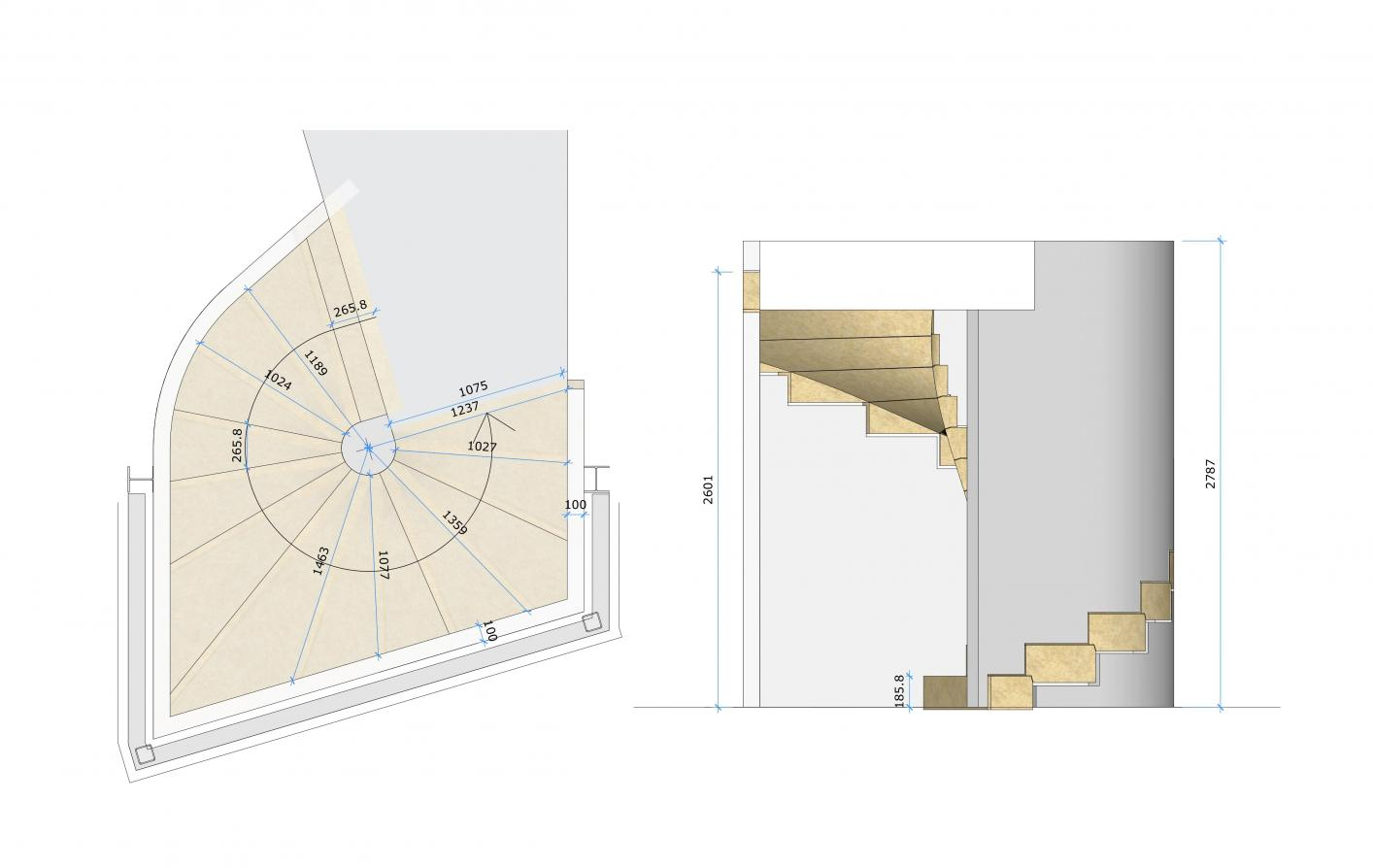 design of this cantilevered sandstone staircase
