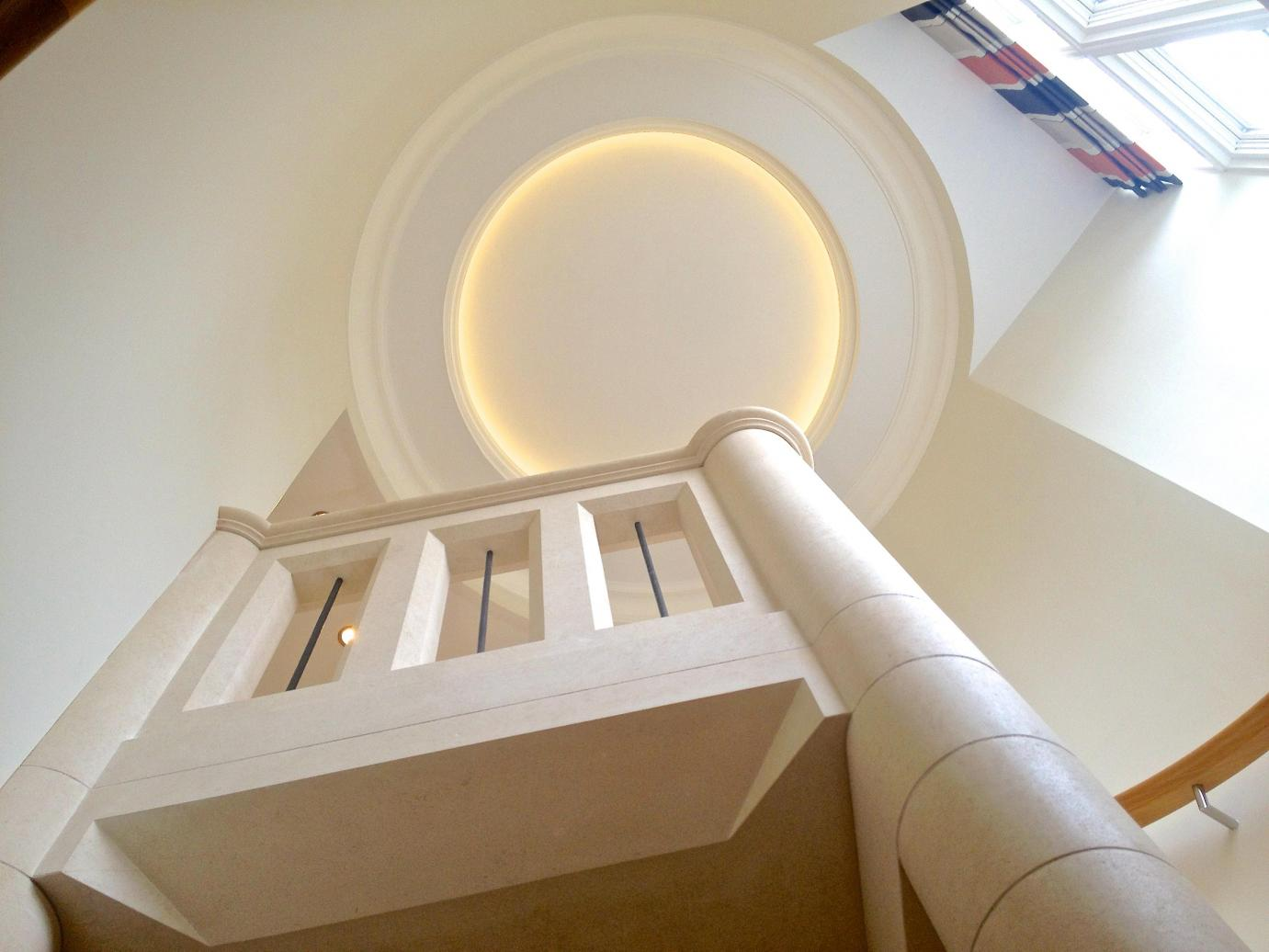 solid stone spiral staircase in London