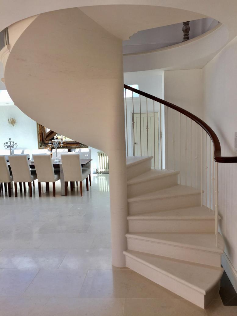 stone stairs, staircase Leicester, beautifully made spiral stone staircase