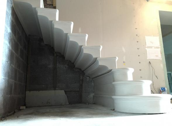 Cantilevered stone staircase in Glasgow