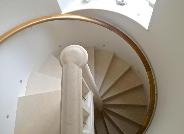 spiral stone stairs