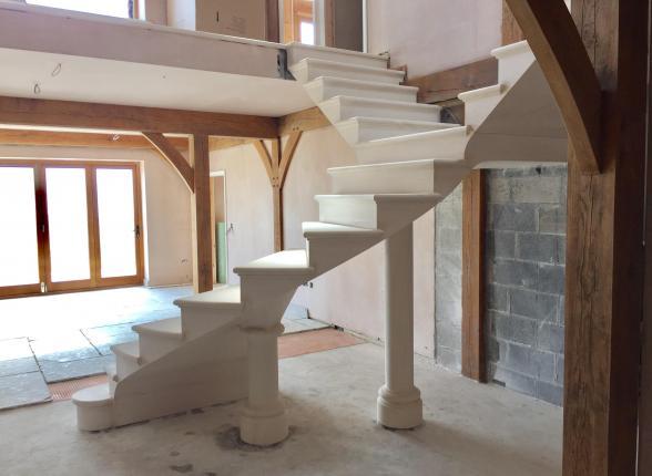 Beautiful floating stone staircase - Isle of Man