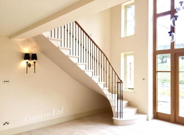 Simple but elegant, cantilevered stone staircase