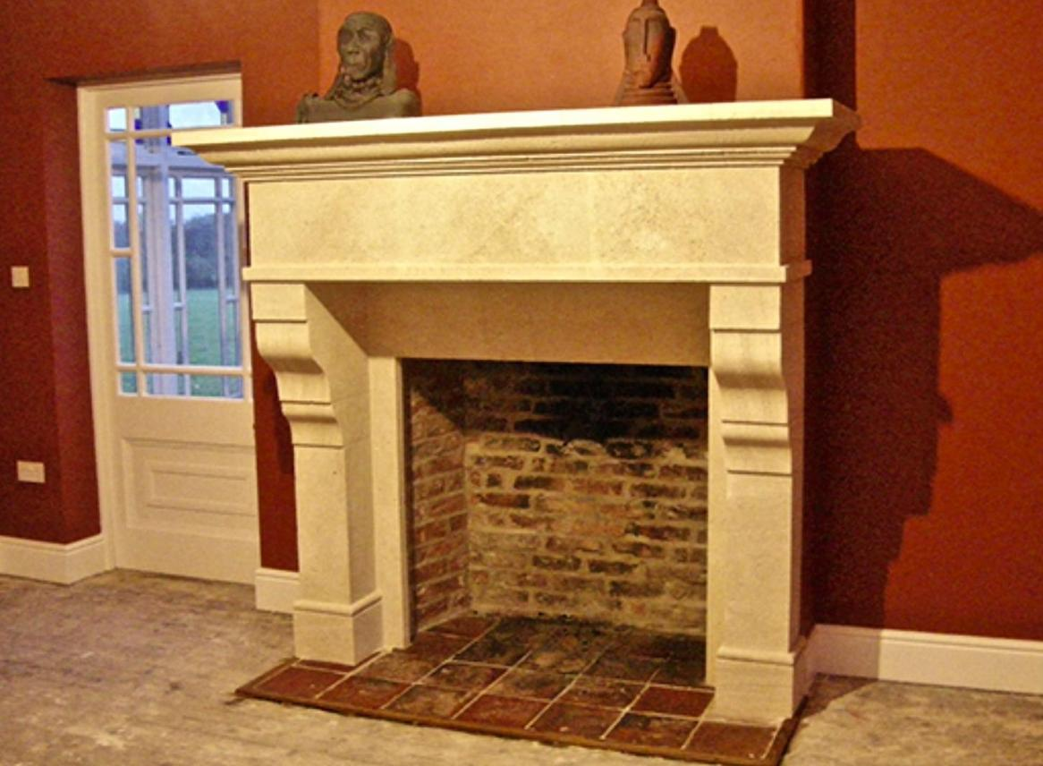 Beautifully hand carved solid stone fireplacesCarvero